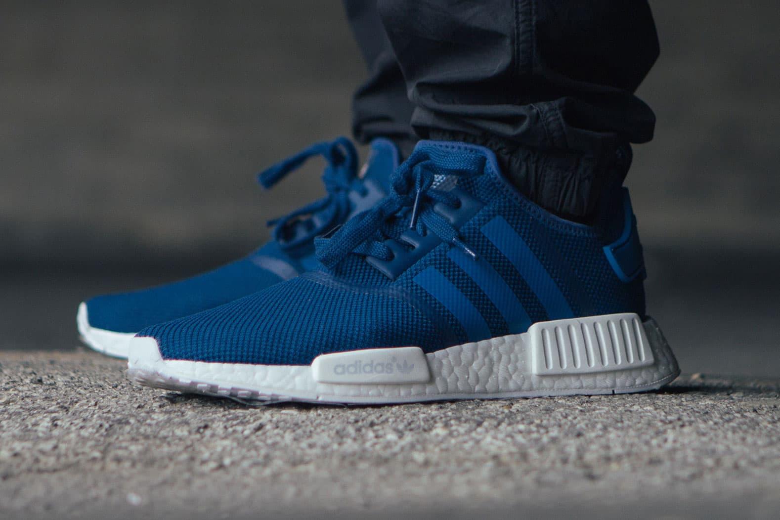 Adidas Originals Nmd R1 Sneaker In Blue Hypebeast