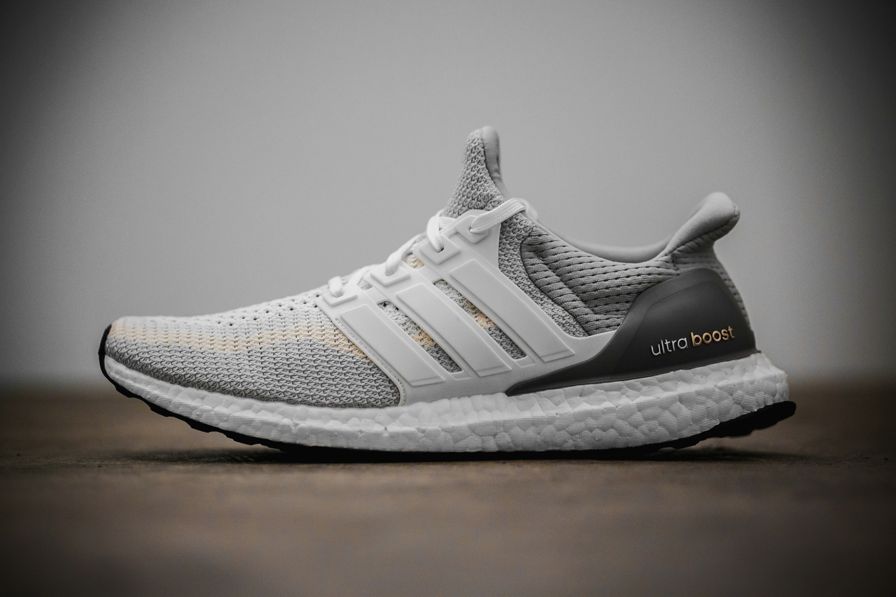 adidas Ultra Boost White and Gray