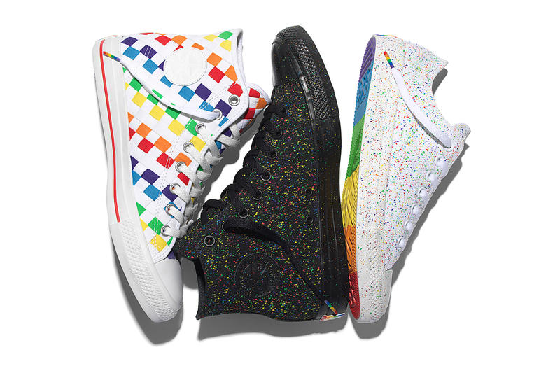 ef1d9d3de5ec Converse Celebrates the Global Pride Movement With Rainbow Chucks. In  support of LGBTA communities worldwide. Footwear May 12