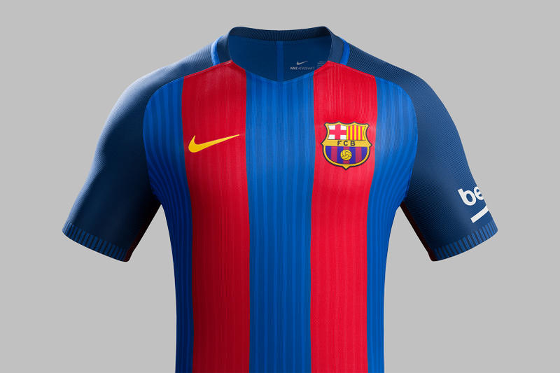 89b059ad3 ... Barcelona s 2016-17 Home Kit. Barça is ditching sponsorship on the  front of its Camp Nou look next season.