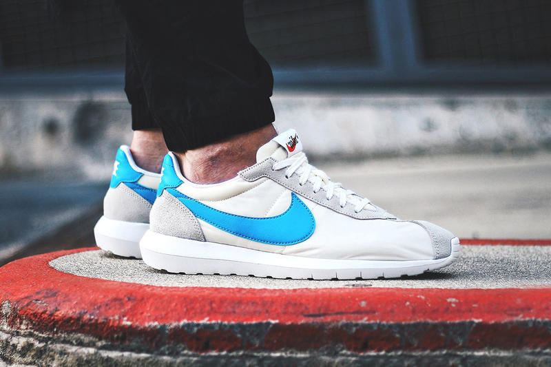 check out fc217 7ffbe Nike Roshe LD-1000 Summit White Blue Glow-White-Safety Orange. Bone white  and bright blue for the warmer months.