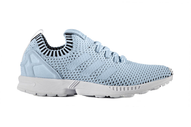 sports shoes dd4b6 f7e99 adidas Drops a Baby Blue ZX Flux Sneaker With Primeknit