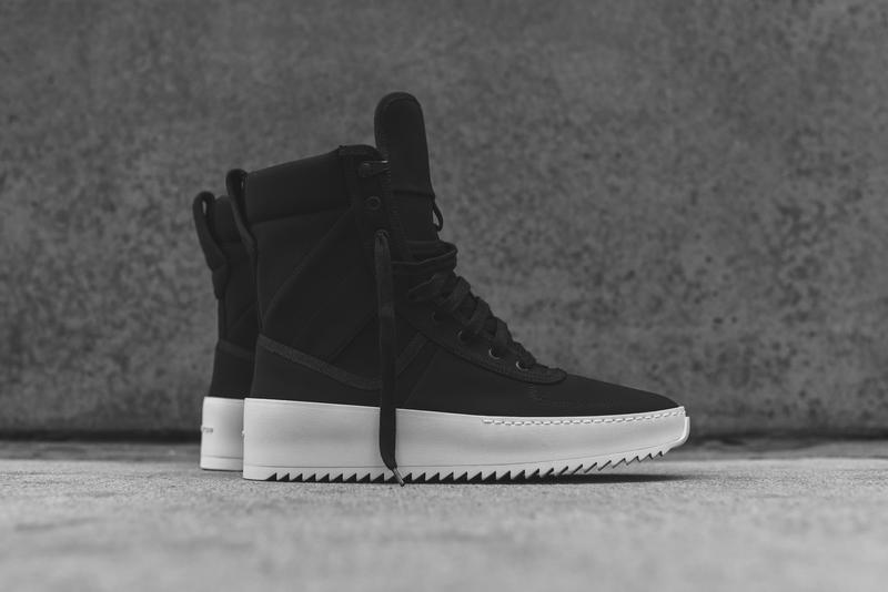 c171bdd9a84e Fear of God Launches Its Military Sneaker in Black Nylon