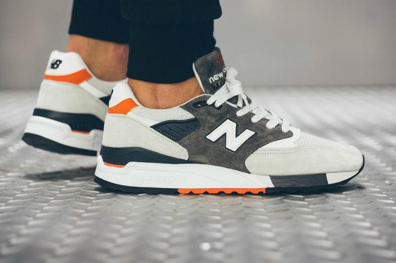 sale retailer d59ad 8c8bd New Balance 998 Grey/Orange/Navy | HYPEBEAST