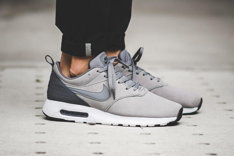 ed5cdef292 Cool Grey Swathes This Nike Air Max Tavas With a Suede Upper