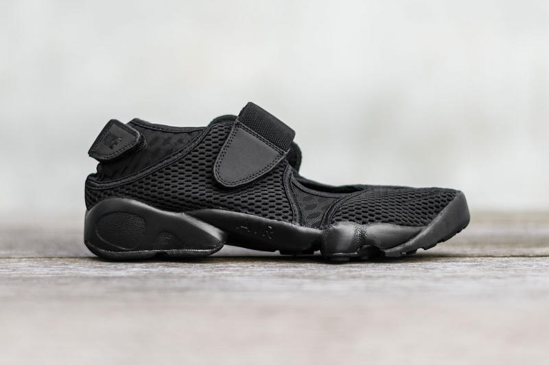 70b04002f87 The Nike Air Rift Gets a Menacing Black Colorway. For the fleet-footed who  love to rock all black everything.