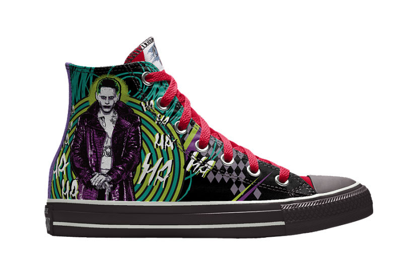 015aab9dd0dd Customize Your Converse Kicks With  Suicide Squad  Illustrations on NIKEiD.  Choose from Harley Quinn ...