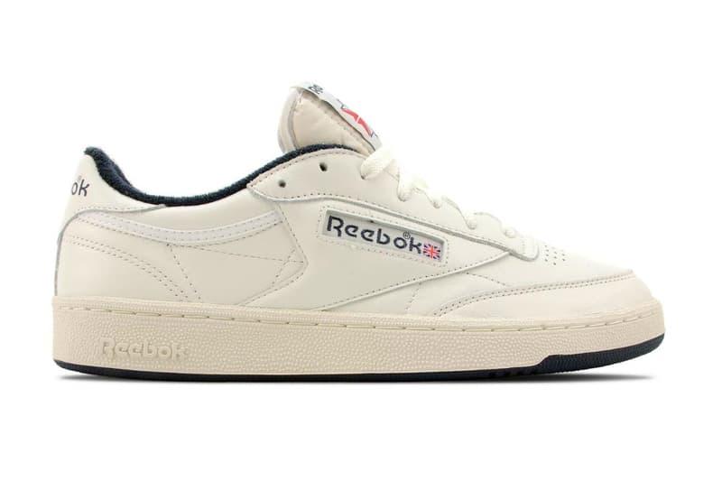 552872bae2c Reebok Club C 85 Vintage Chalk Paper White Collegiate Navy Sneaker ...