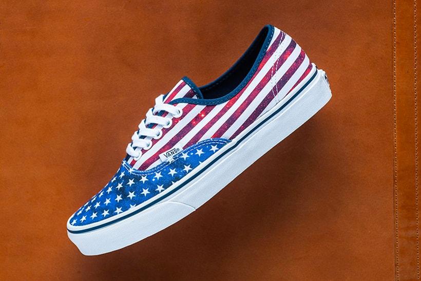 41c9d5c1c6 Vans Authentic American Flag Canvas Shoes