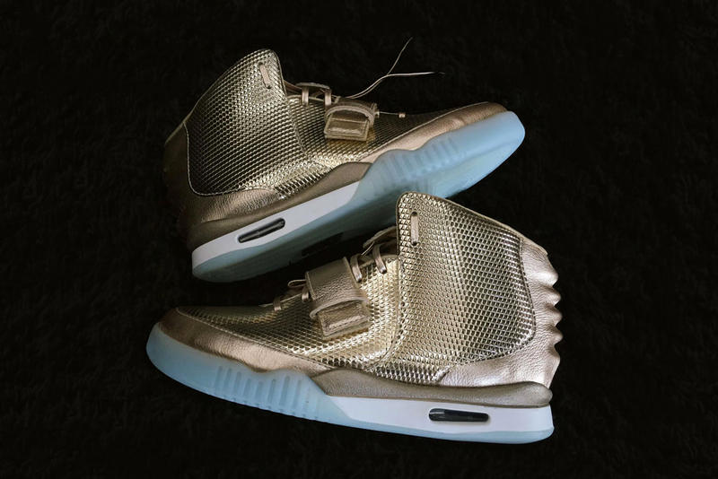 9d3ce2a2d2450 This Custom Nike Air Yeezy 2 Is Coated in Gold