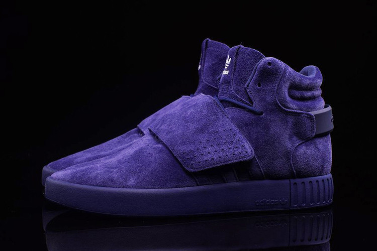 new product f01e4 1d274 adidas Tubular Invader Gets a Blue Suede Makeover