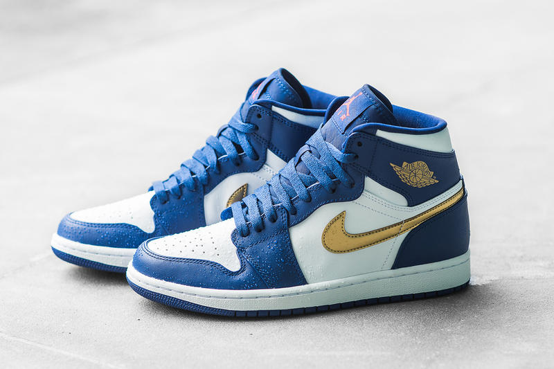 df747a2bbe2 Hits of Royal Blue and metallic gold for this iconic Jordan silhouette. 1  of 8. 2 of 8