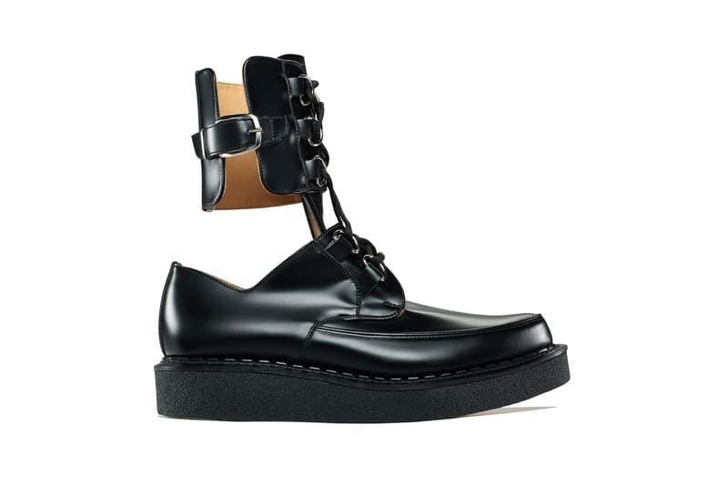 prix abordable réel classé haute couture George Cox COMME des GARCONS Homme Plus Black Leather ...