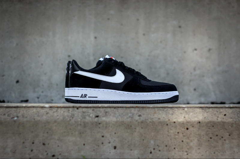 promo code aa423 f6908 Nike Air Force 1 Drops in a Black and White Mesh Suede Combination. Keeping  it classy with a simple color scheme.