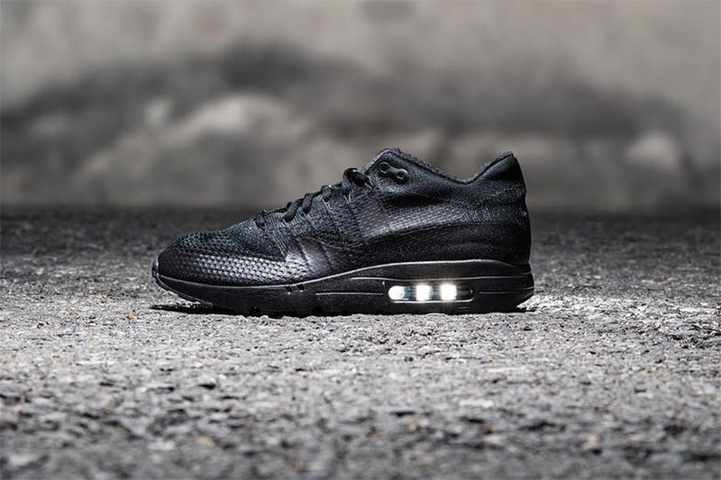 sports shoes a5479 566ac Nike Air Max 1 Ultra Flyknit Triple-Black Colorway | HYPEBEAST