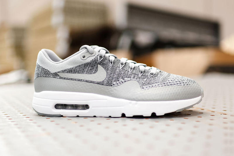 sports shoes 98da0 c48f5 Nike s Air Max 1 Ultra Flyknit Gets Revamped in Wolf Grey