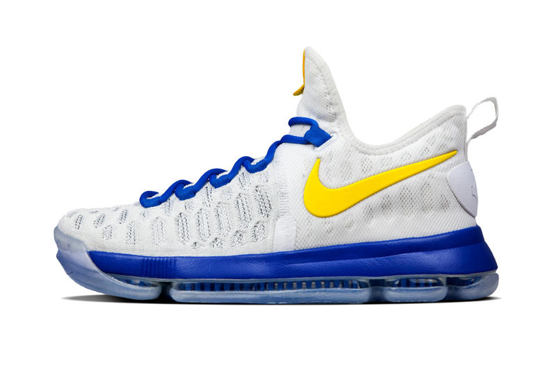 reputable site 9bf81 e48b7 Nike Wastes No Time in Offering the KD 9 in Customizable GSW Colorways