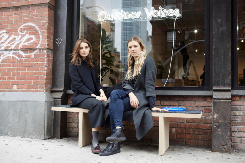 Ana Kras and Tyler Haney Outdoor Voices Store