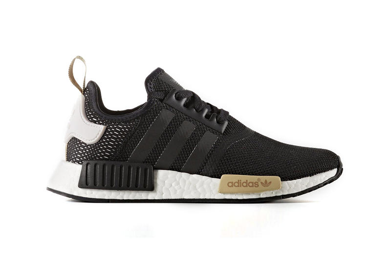 Adidas Originals Nmd R1 Black Gold Womens Hypebeast