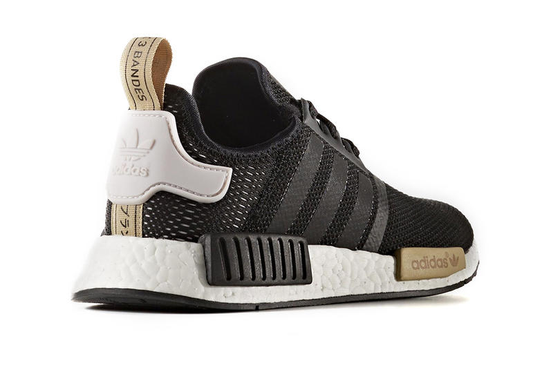 9d88dff61 adidas Originals NMD R1 Black Gold Womens