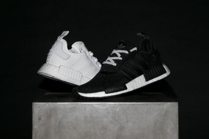 Adidas Originals Nmd R1 Reflective Black And White Hypebeast