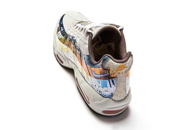 Dave White Nike air max 95 painting artist british rainbow mulit-coloured