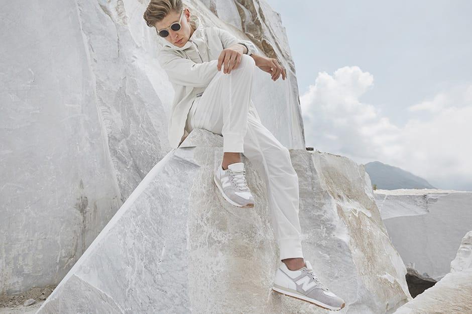 new balance 575 marble white