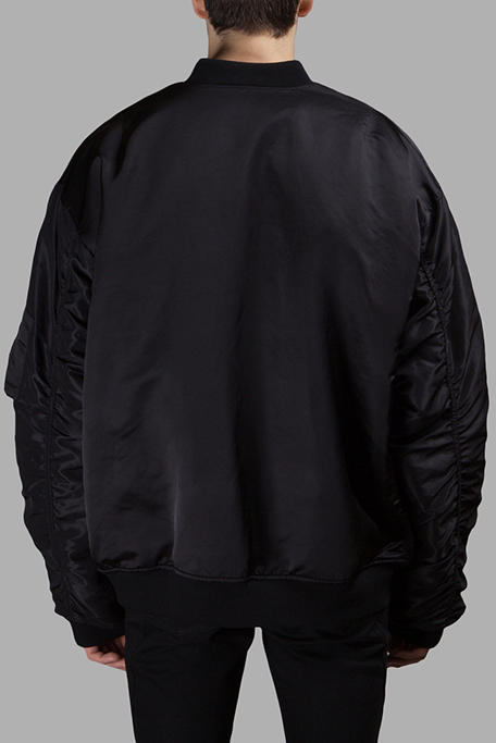 Faith Connexion Bomber Jacket oversized antonioli black orange inner pockets zippers