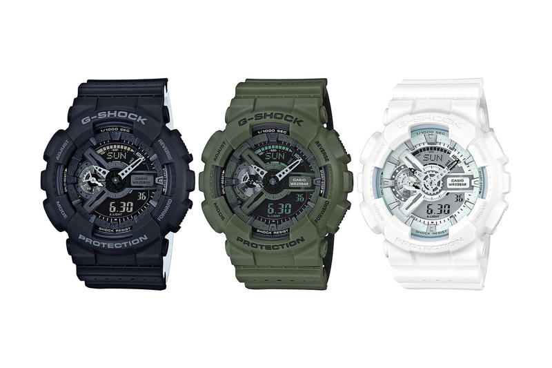 G-SHOCK, black, white, green, GA-110LP, Punching Pattern