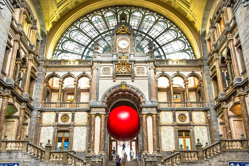 Kurt Perschke RedBall Project Sculpture Antwerp