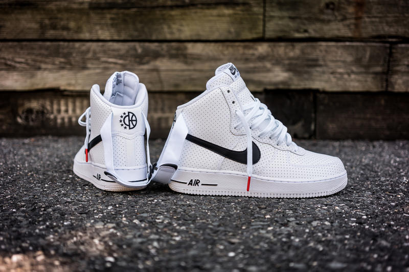 pretty nice 7d259 d8f62 Nike Covers the High-Top Air Force 1 in Perforated Leather. The Swoosh  drops one of its better non-NikeLab AF1s in recent months.