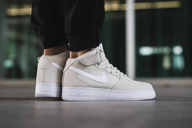 40d8cef0 Nike Air Force 1 Mid Light Bone Sneaker   HYPEBEAST