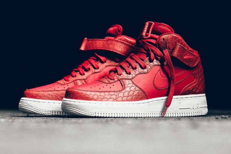 ee22fce26c56f Nike Air Force 1 Mid Red Python | HYPEBEAST