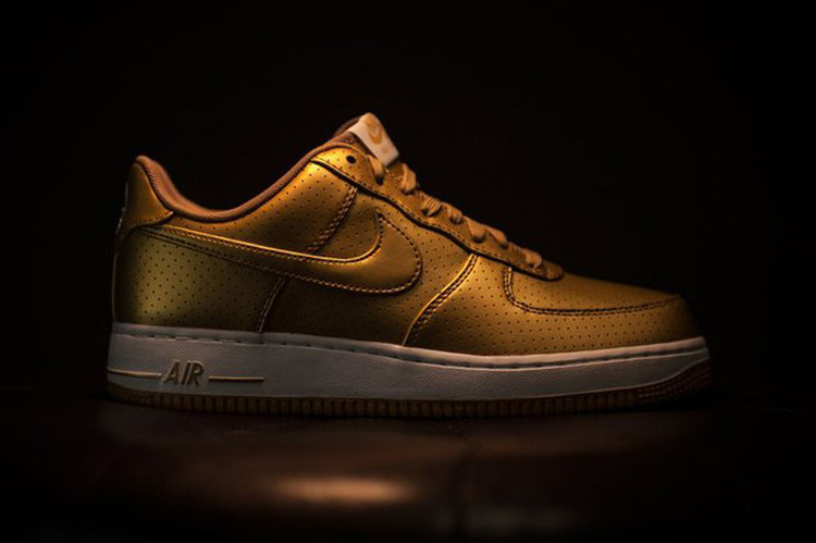 8fa8baa552 Nike Declares Olympic Fever With Metallic Gold Air Force 1