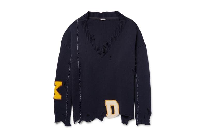 Raf Simons Oversized Distressed Sweater Navy