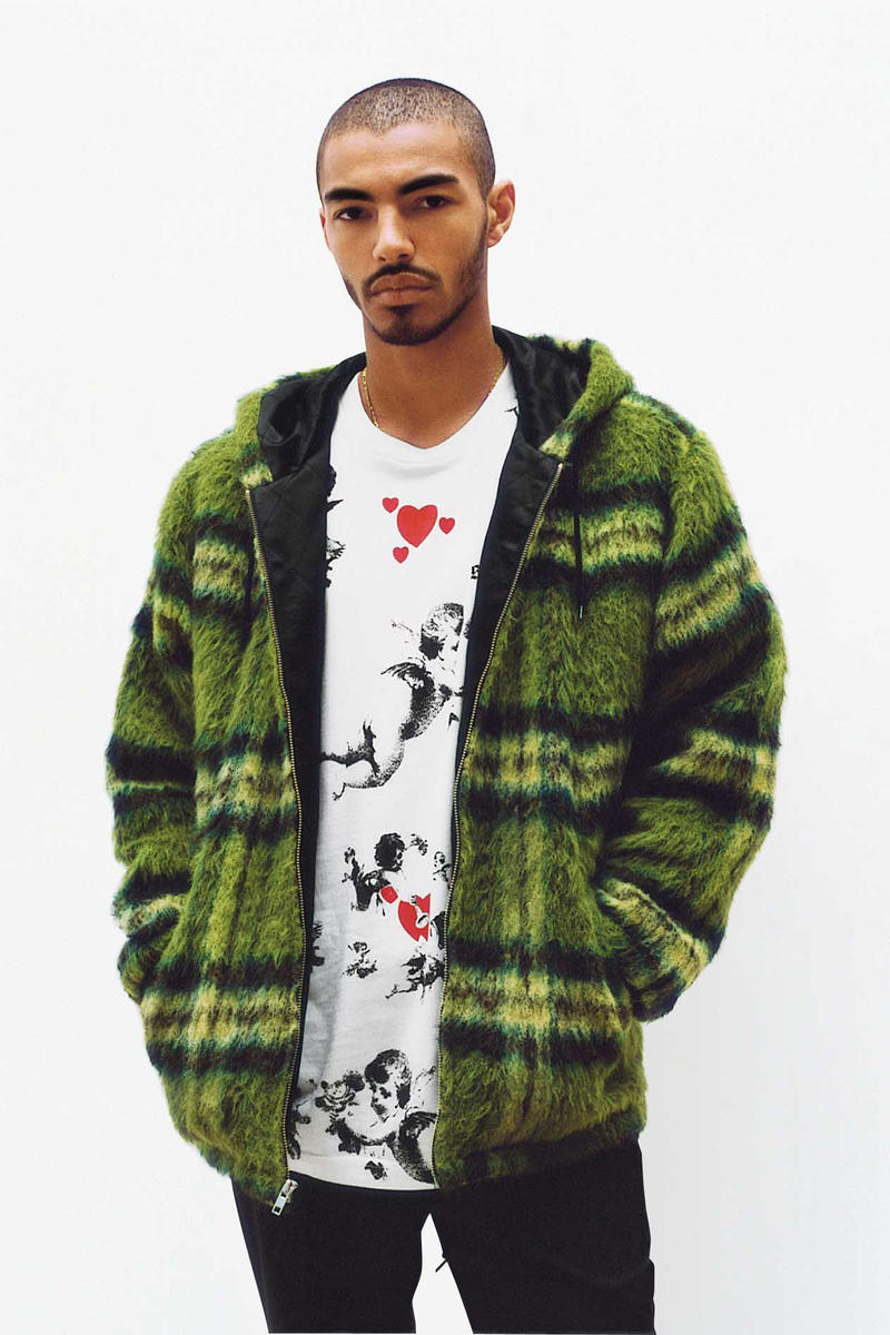 Supreme Plaid Mohair Zip Parka
