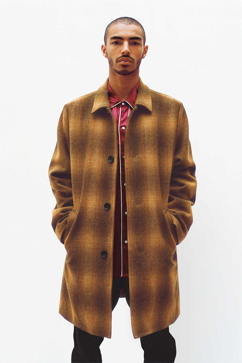 Supreme Tartan Overcoat