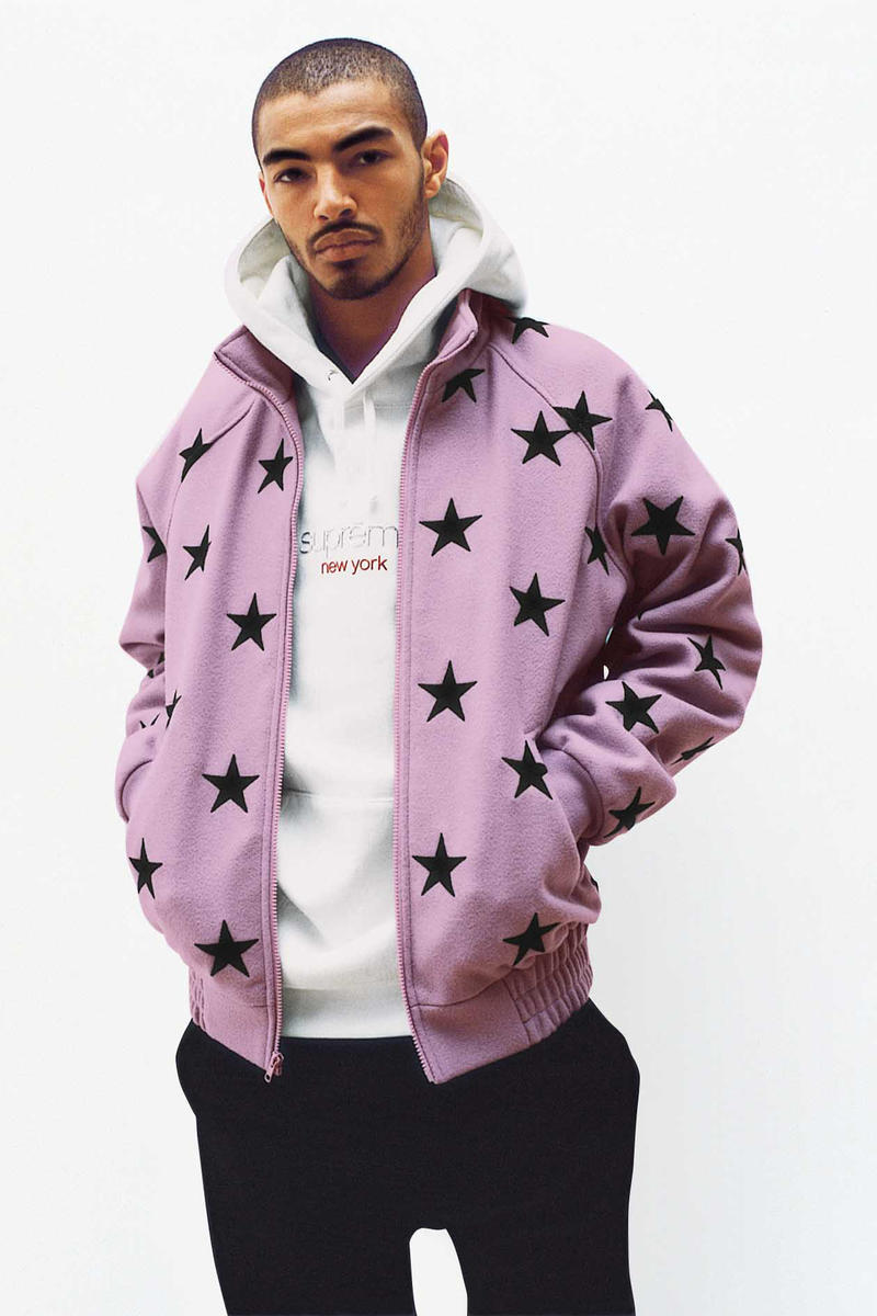 Supreme Lilac Stars Zip-Up