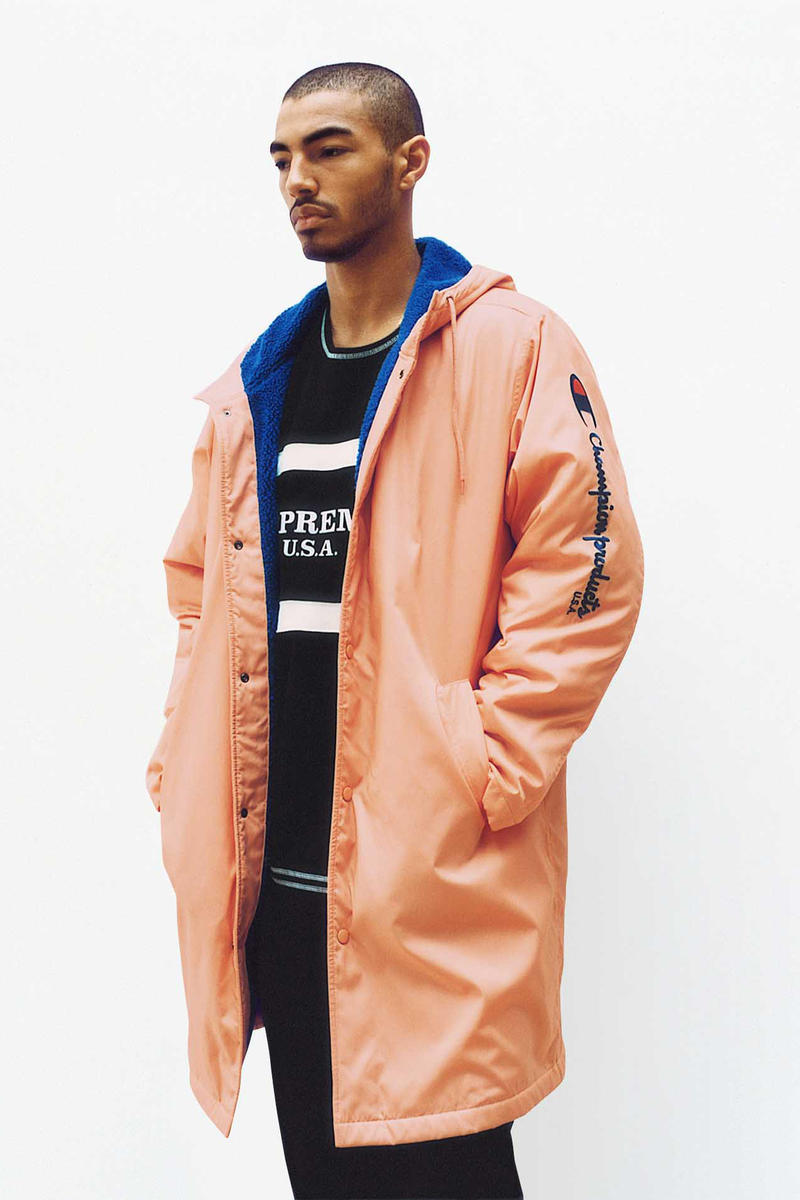 Supreme x Champion Peach Coach Jacket
