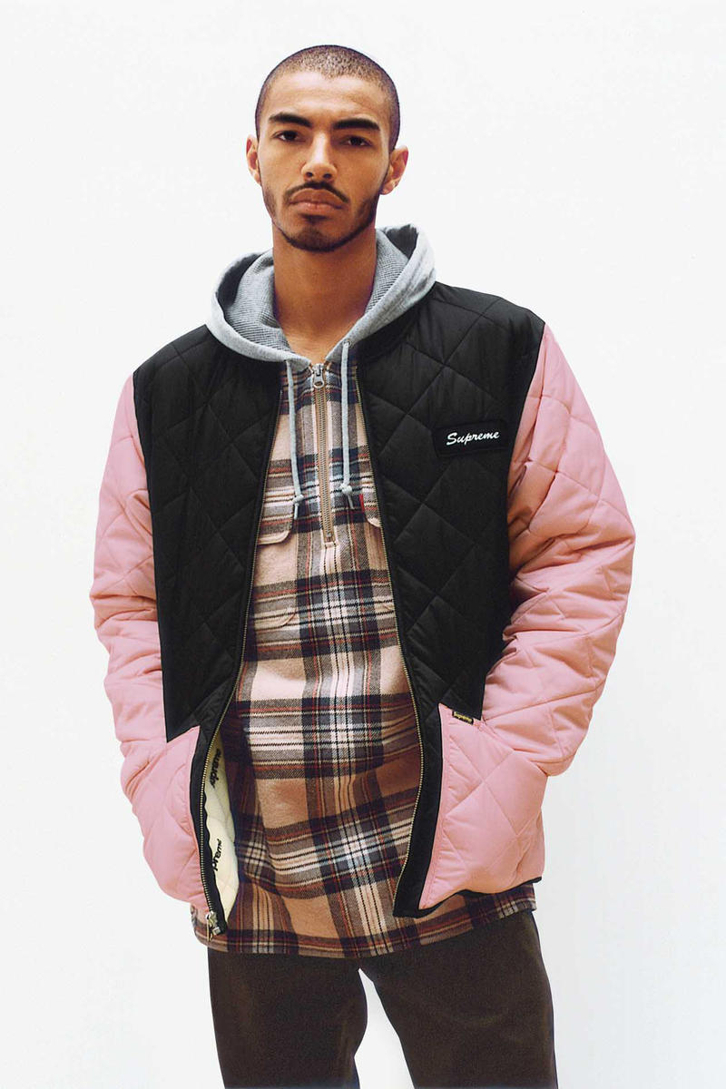 Supreme Quilted Pink and Black Jacket