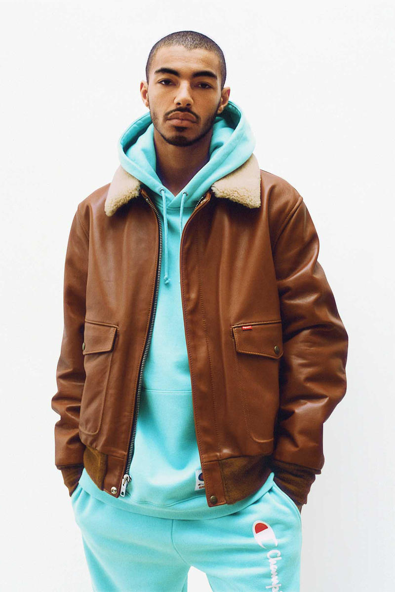 Supreme Brown Leather Flight Jacket