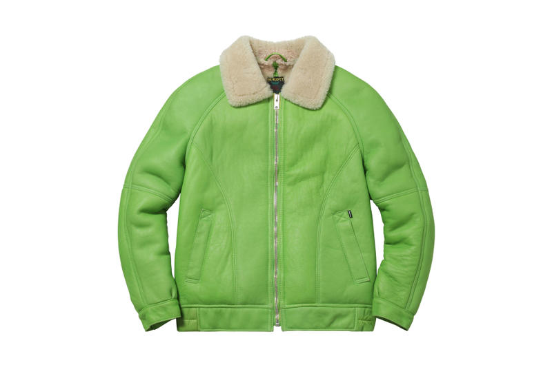 Supreme Lime Green Schott Jacket