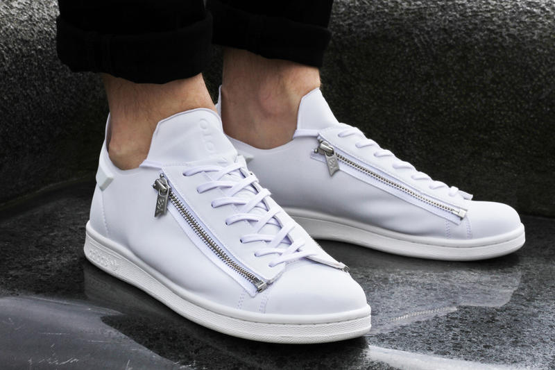 """6a36877dc Yohji Yamamoto Has Recreated the Iconic Stan Smith for Y-3. The """"Stan Zip""""  features a bold zipper."""