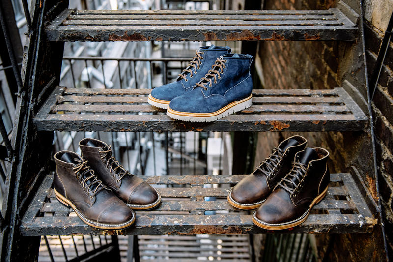3sixteen x Viberg 2016 F/W Boots brown blue