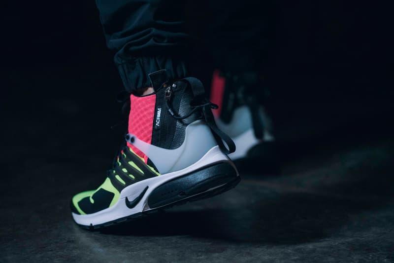 Acronym Nike Air Presto Mid Neon Sneakers NikeLab Hypebeast