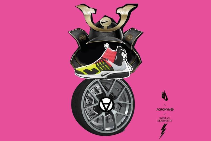 ACRONYM x NikeLab Air Presto Mid pink yellow white