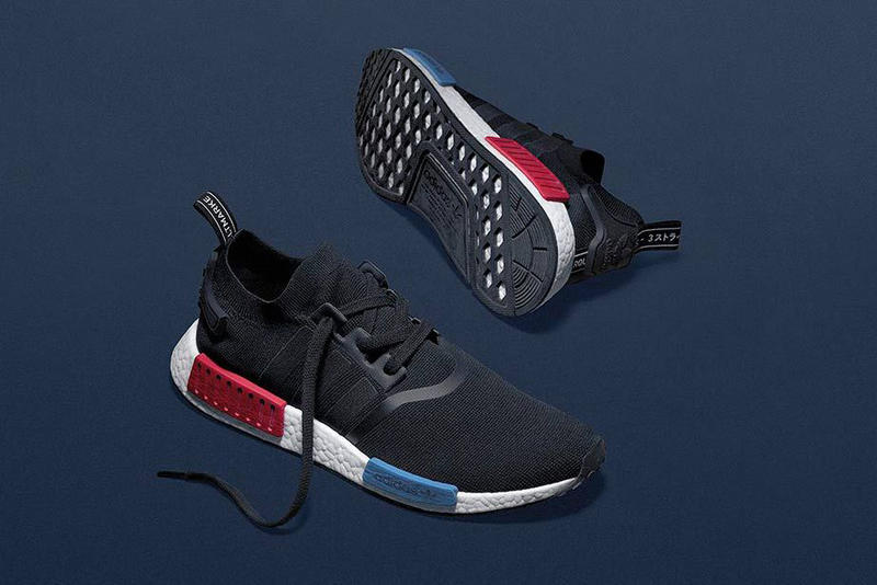 "adidas Originals NMD ""OG"" black primeknit red blue"