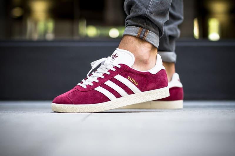 beea48db8318 adidas Originals Gazelle in Burgundy Sneaker