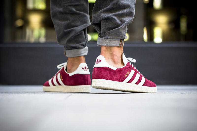 adidas originals gazelle burgundy sneaker
