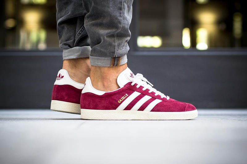 official photos 6cd06 d7e78 adidas originals gazelle burgundy sneaker